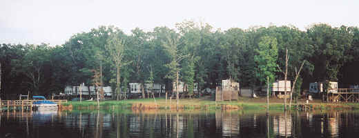 A first class RV Park with over 45 wooded acres! The largest waterfront rv lots on Lake Fork!